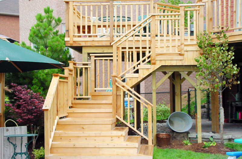 multilevel deck web - composite deck