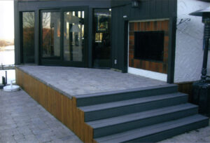 custom walkout basement renovation - outdoor decks
