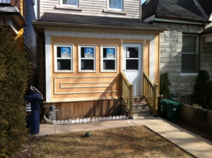 home addition front door - composite deck