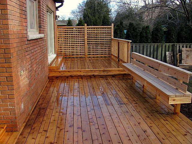 cedar custom deck build from luxury wood - design a deck