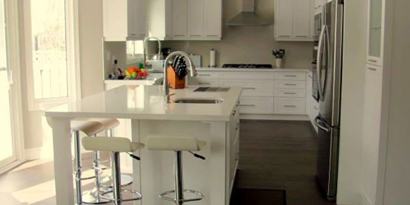 custom kitchen renovation with wooden floor - Custom Skateboard Decks