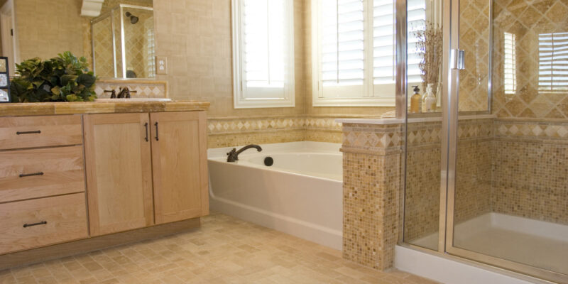 custom bathroom with shower and tub - Pergolas Design