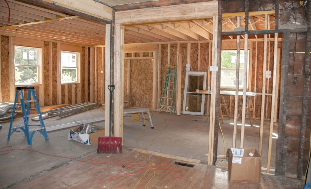 custom home frame work and sound proofing by living construction Markham
