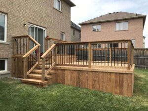 backyard custom deck and landscaping - outdoor decks