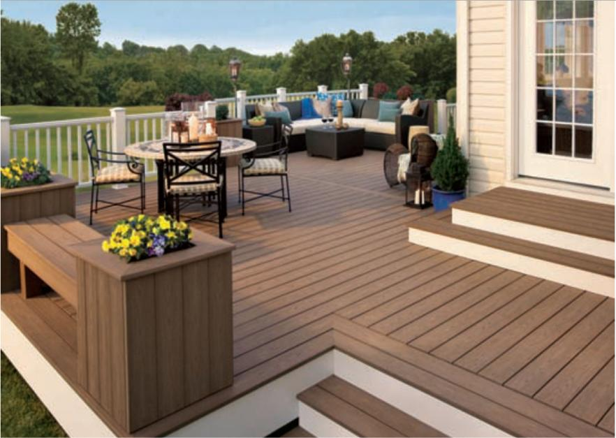 amazing custom deck in the backyard - Woodbridge